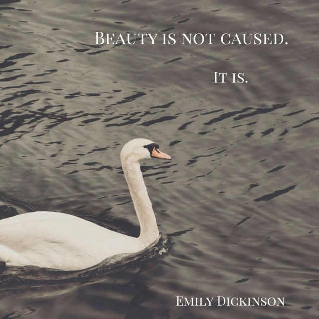Beauty is not caused.